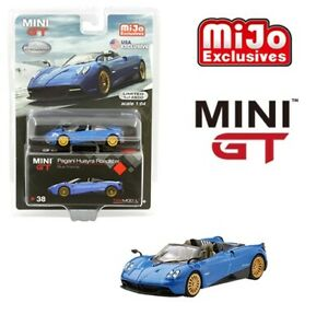 TSM-1-64-MINI-GT-Pagani-Huayra-Roadster-Diecast-Model-Car-Blue-Francia-MGT00038