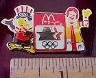 McDonalds 1984 Los Angeles Olympics Ronald & Sam the Eagle Mascot Pin NEW
