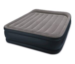 Image Is Loading Intex Queen Deluxe Raised Inflatable Air Bed Mattress