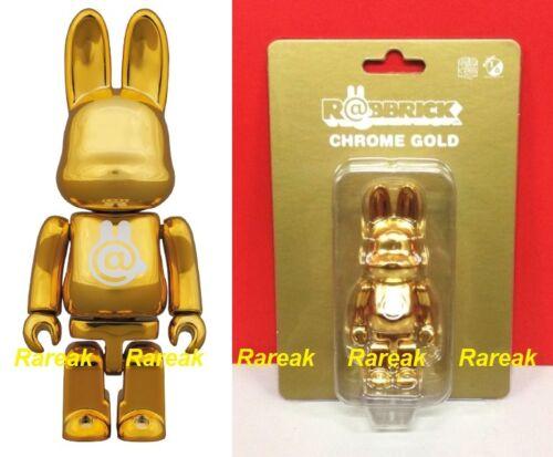 Medicom 2015 Be@rbrick Rabbit 100/% Rabbrick Chrome Gold Bearbrick R@bbrick