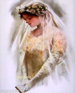 Harrison-Fisher-Girl-Fabric-Block-Beautiful-Bride