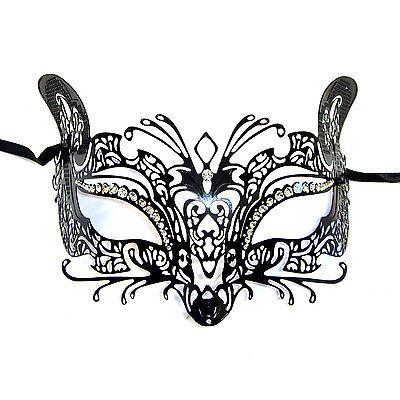 El Gato Halbschuhe Stil Metall filigran Maskerade Maske Strass Katze Fox Maus