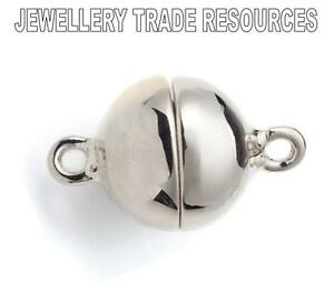Donut 6mm  Silicon Interior  925 Clasp Sterling Silver Sliding Ball // Elipse
