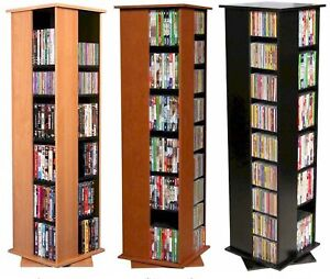 612-CD-288-DVD-Floor-Spinner-Storage-Tower-Rack-NEW