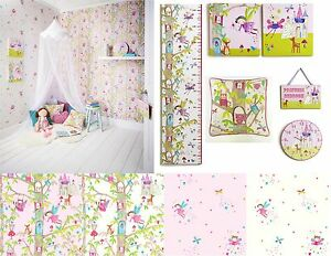 Image Is Loading Woodland Fairies Fairy Glitter Girls Bedroom Wallpaper Amp
