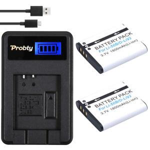 PROBTY-Li-50B-D-LI92-Battery-LCD-Charger-For-OLYMPUS-SP-810-SZ14-SZ16-D755-XZ-1