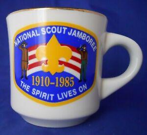 Vintage-National-Scout-Jamboree-1985-Boy-Scouts-B-S-A-Coffee-Mug-Cup