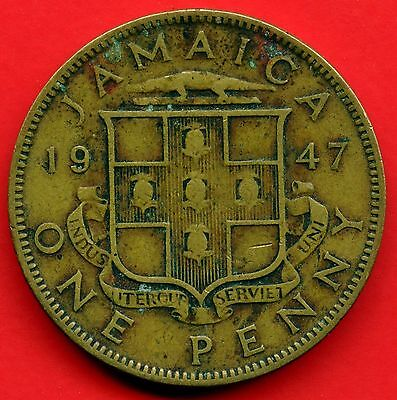 """Jamaica 1 penny 1965-1967 plated /""""pirate gold treasure/"""" coin"""