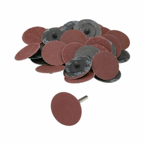 50mm Quick Change Sanding Discs 40-240 Mixed Grit 41pc Kit With Adaptor
