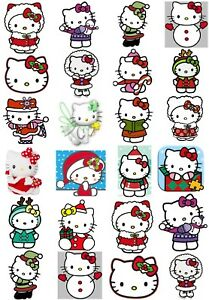 Hello Kitty Christmas.Details About 65 Mixed Hello Kitty Christmas Small Sticky White Paper Stickers Labels New