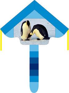 Einleinerdrachen-Kaiserpinguin-Pinguin-Kinderdrachen-Deltadrachen-Einleiner-Blau