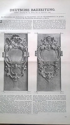 1900 75 Berlin Ehrentafel Lichthof Technische Universiät Reich An Poetischer Und Bildlicher Pracht
