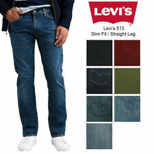 Soft Rigid Blue 34x32 0079 Levi/'s Men/'s 513 Stretch Slim Straight Jean