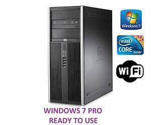 Schnell-hp-Elite-8200-Tower-Computer-Intel-Quad-Core-i5-Gunstig-PC-4GB-500GB
