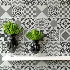 Patchwork Tiles Stencil Pattern - Size SMALL-  Stencils for DIY Home Decor