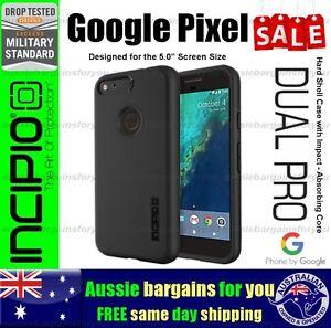 Google-Pixel-5-034-Incipio-DualPro-Black-Case-Tough-Slim-Rugged-Hard-Shell-Genuine