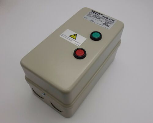 AC 220V Coil 30-40A 3 Phase Control Motor Magnetic Starter HUB-27K Metal Case