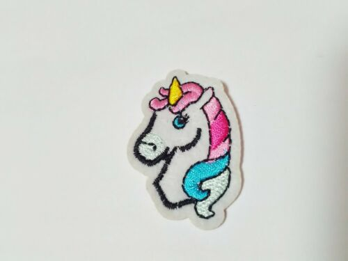 """4 x Small White Unicorn Iron Patches Applique 45mm Girls Sew On Patches 1 3//4/"""""""
