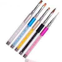Nail Art Tips UV Gel Crystal Acrylic Painting Drawing Pen Polish Brush Pen Tool