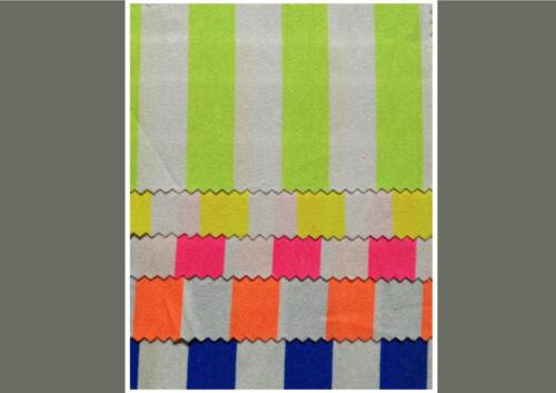 Stoff Baumwolle Elasthan Gabardine Popeline Neonfarben Fasching Meterware B-WARE