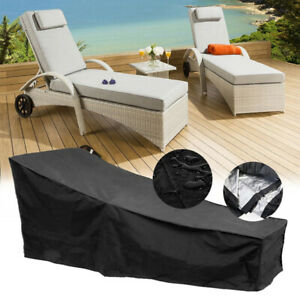 2x Weather Cover Heavy Duty Dust-proof For Patio Garden Sun Lounger Sunbed UK