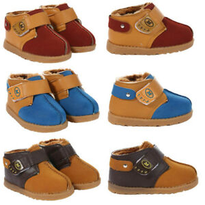 faab6e504a09 Baby Infant Shoes Warm Fur Boots Soft Trainers Slippers Kids Toddler ...