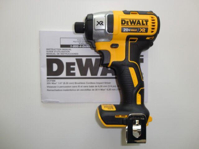 """Dewalt 20V 20 Volt Premium Brushless 1/4"""" Impact Driver Tool Model DCF886 New"""
