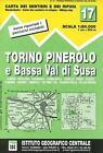 IGC Italien 1 : 50 000 Wanderkarte 17 Torino Pinerol