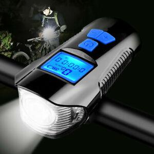 led fahrradlampe set usb akku radlicht fahrradlicht vorne lampe ebay. Black Bedroom Furniture Sets. Home Design Ideas