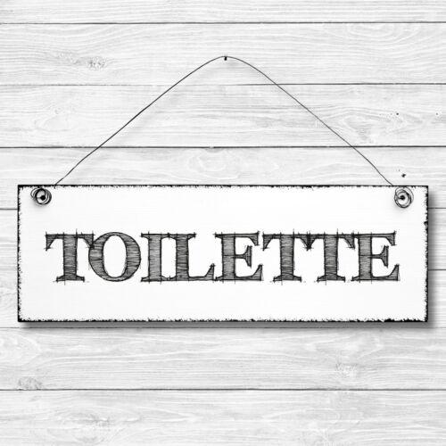 Shabby Bois Deco Mur Porte Bouclier toilettes virent vintage Dekoschild