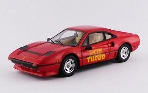 Meilleur modèle 9678 - Ferrari 208 Gtb Turbo Rouge 1980 1/43