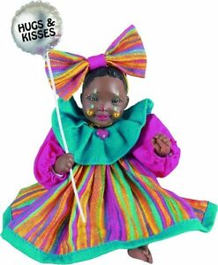 Clown Tutti New Porcelain Afro African American Brown Black Dark Baby Girl Doll