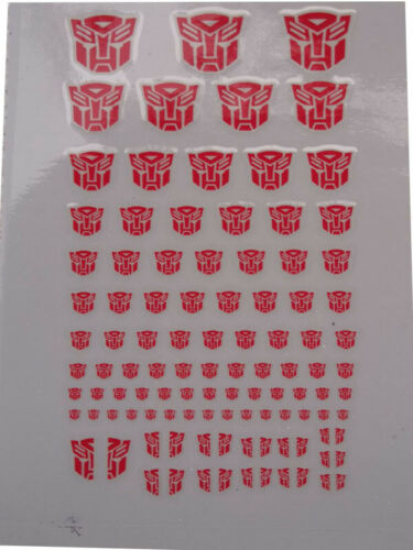 Transparent Clear Transformers G1 Decepticon Symbol Sticker Decal for Custom