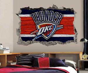 Oklahoma City Thunder Wall Art Decal