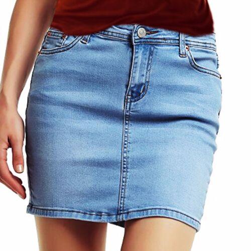 Women/'s Denim Bodycon Mini Jupe Femme Casual Summer Beach A-line Court Jeans