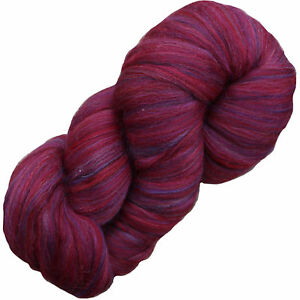 AIR MERINO Super Bulky Wool Yarn QUICK KNIT soft chunky Living Dreams RUBY