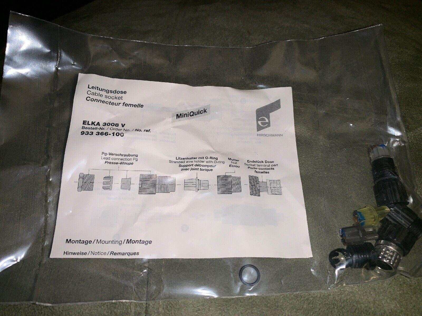 933-366-100 Hirschmann Female Plug Cable Socket
