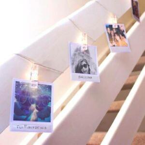 polaroid string lights photo clip peg led line frame. Black Bedroom Furniture Sets. Home Design Ideas