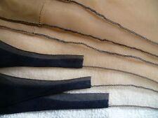"""33-34-35"""" x 10.5"""" Vintage BLACK BLUE FOOT w/ BLACK SEAMS Nylon STOCKINGS BOX"""