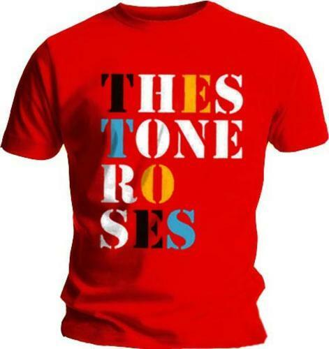 The Stone Roses-Police Logo-Men /'s Official T-shirt rouge