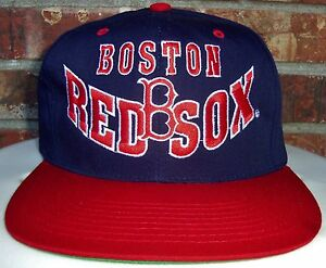 NEW VINTAGE 90 s BOSTON RED SOX MLB GROSSCAP SNAPBACK HAT (THE G CAP ... 4bff51b58ba