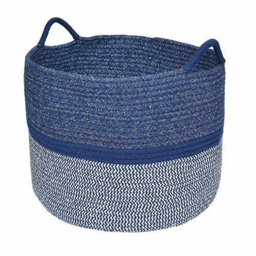 XXL 18/'/'D x 13/'/' Fabric Storage Baskets Bin Organizer With Two Handles Navy