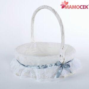 CESTO-nascita-VIMINI-bianco-tondo-c35-porta-bomboniere-cestino-confezioni-Shabby