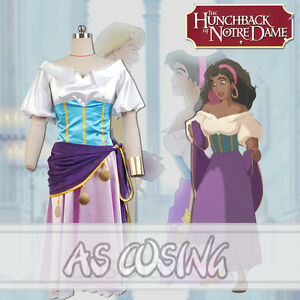 Image is loading The-Hunchback-of-Notre-Esmeralda-Cosplay-Costume-Notre- & The Hunchback of Notre Esmeralda Cosplay Costume Notre-Dame de Paris ...