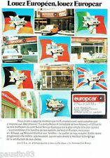 PUBLICITE ADVERTISING 116  1977   Europcar  location  voitures
