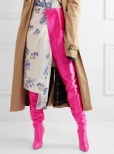 genou bout sur longue le sur des chaussures taille New Womens glissement pointu haute bottes LSGUzVpMjq