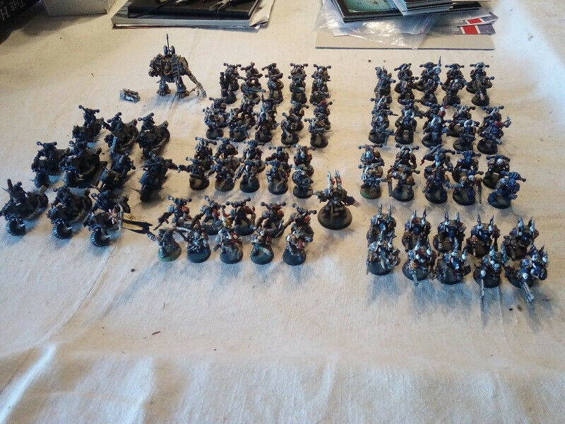 Warhammer 40000, 40000, 40000, force chaos space marines, night lords 155