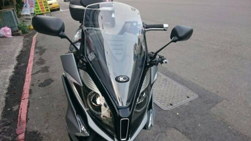 KYMCO DOWNTOWN 350i with DRILL.TOOL YZF-R15 style FRONT SQUARE MIRRORS