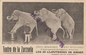 Postal-Espagne-Madrid-Theatre-pour-la-Zarzuela-des-30-Liliputenses-MBC