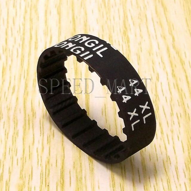 44XL 44XL037 Timing Belt 22 Teeth Black Cogged Rubber Geared Belt 10mm Wide